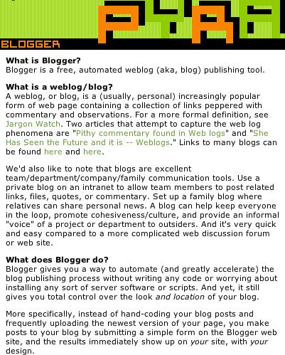История Blogger