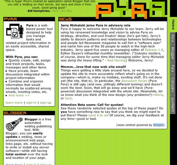 Сайт pyra.com