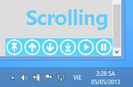scrolling