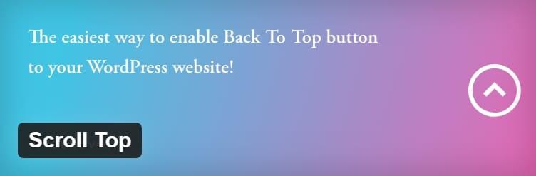 Этот плагин включит настраиваемую и гибкую кнопку « Вверх» на ваш сайт WordPress