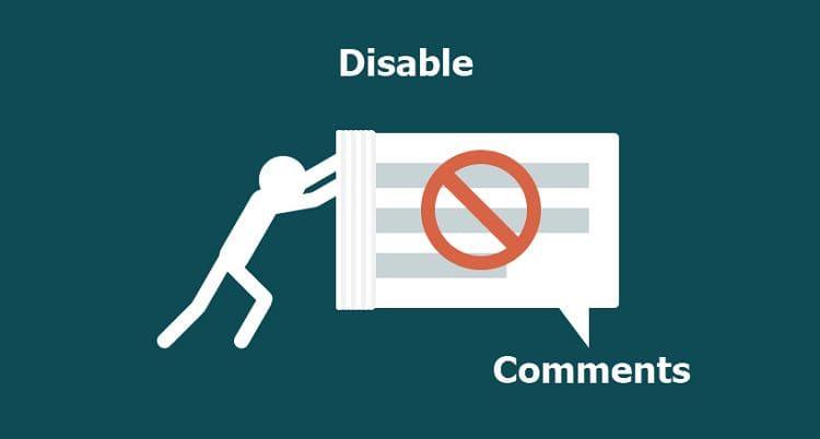 Как отключить обсуждение постов WordPress