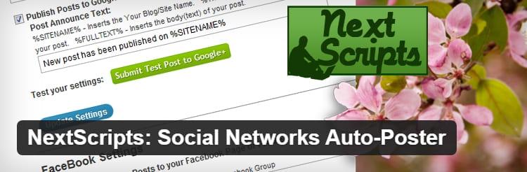 Плагин автоматически публикует сообщения из WordPress в социальные сети