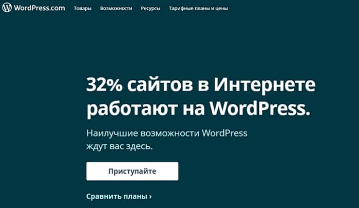 Сайт WordPress. com