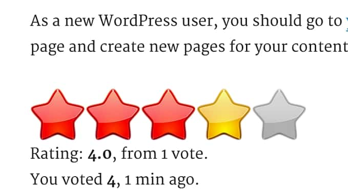 вывод рейтинга в wordpress