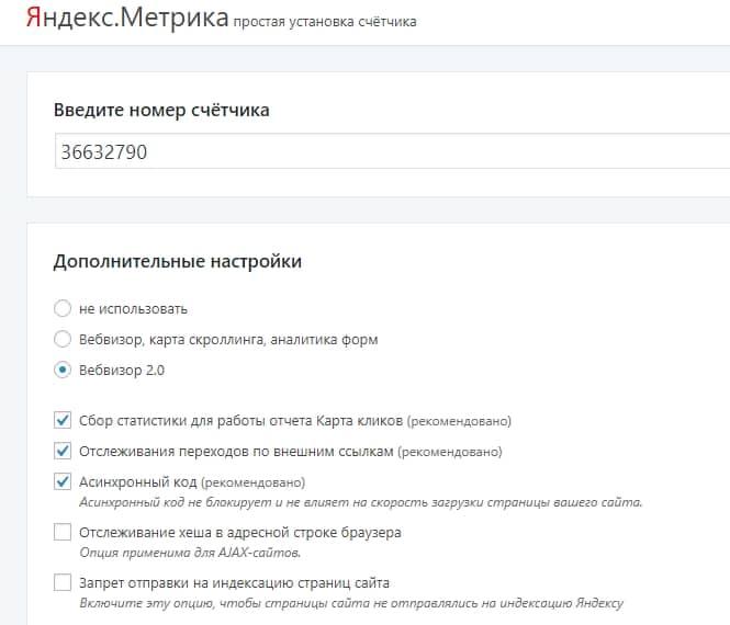 Настройка Яндекс Метрика