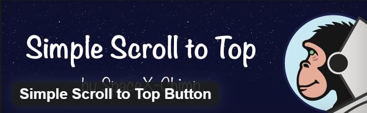Кнопка «Scroll to Top» появляется в правом нижнем углу веб-сайта