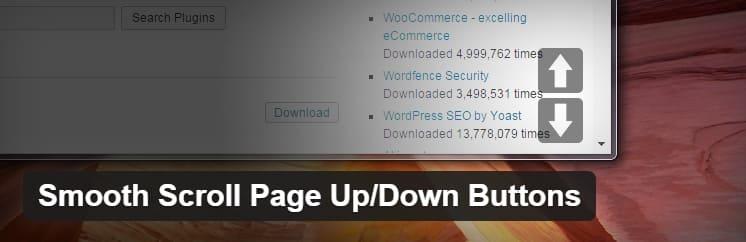 Плагин Smooth Page Scroll Up / Down Buttons для WordPress