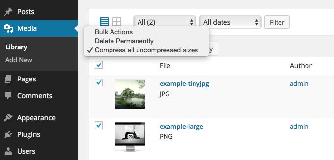 Сжатие изображений на сайте WP, автоматически