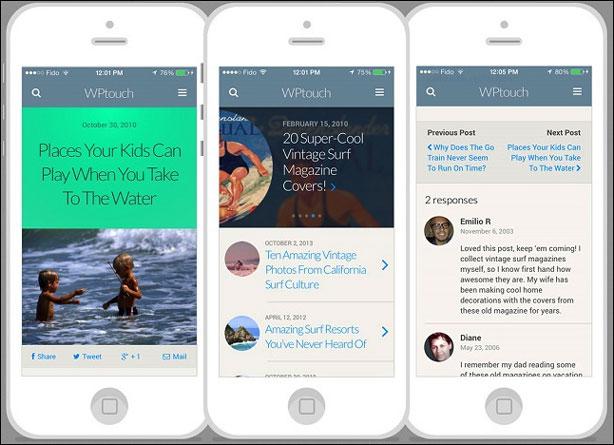 Плагин WPtouch - Мобильная версия WordPress