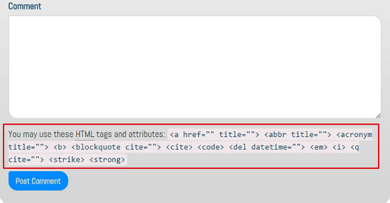Комментарии WordPress форма