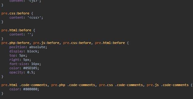 Синтаксис кода