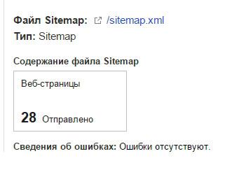 проверка карты сайта