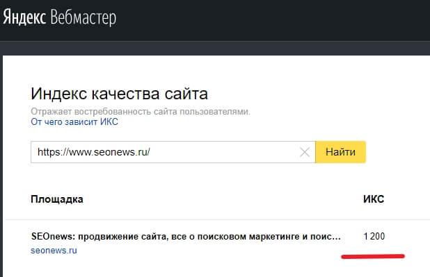 ИКС чужого сайта