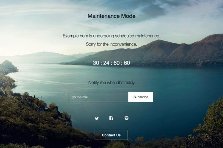 Страница скорого открытия нового сайта