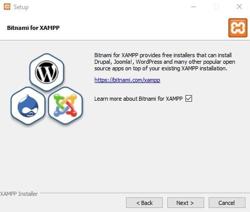 Быстро установите модули Bitnami поверх стека серверов XAMPP
