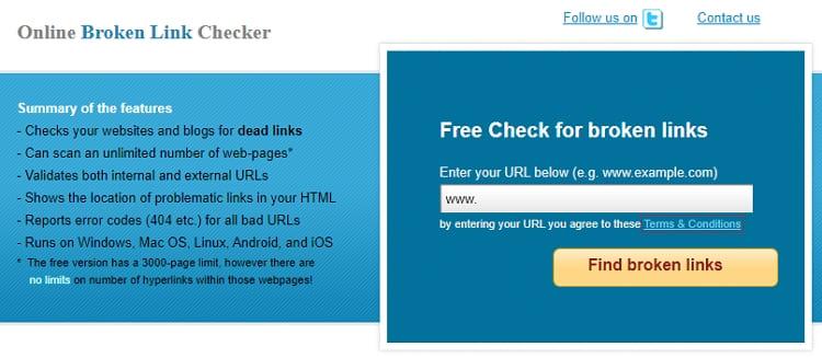 Онлайн-инструмент для проверки сайта на наличие битых, неработающих ссылок