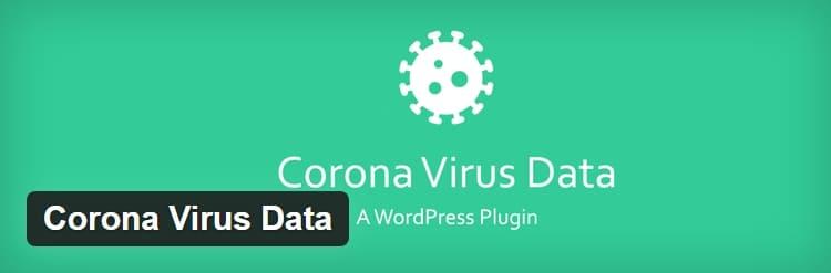 WordPress плагин — Corona Virus Data, отображает данные о случаях заболевания коронавирусом по всему миру и стране