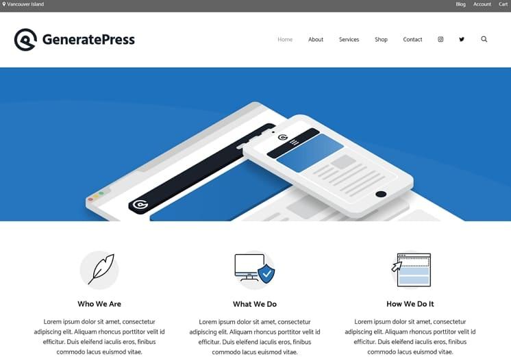 GeneratePress - бесплатная тема WordPress, удобная и скоростная