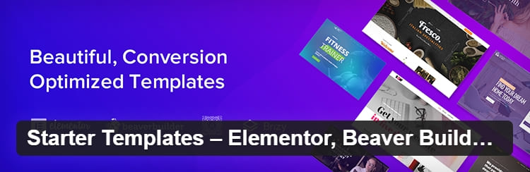 Плагин Starter Templates предлагает полный шаблон сайта