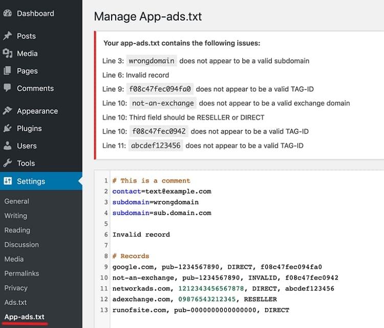 Как создать файл App-ads.txt в WordPress?