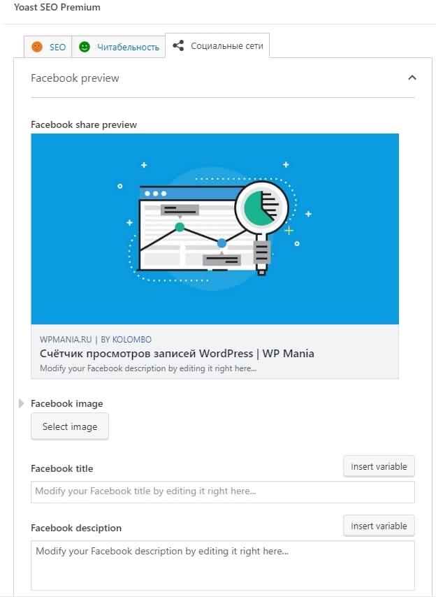 Open Graph в WordPress. Микроразметка для социальных сетей 3