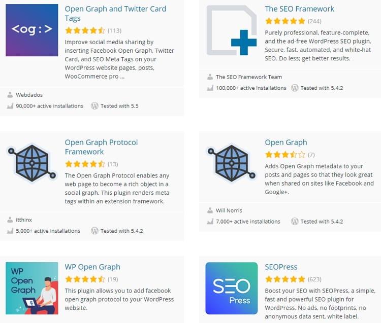 Open Graph и Twitter карты для WordPress