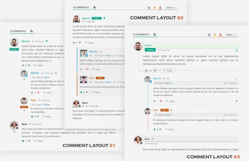 Встроенные комментарии и отзывы