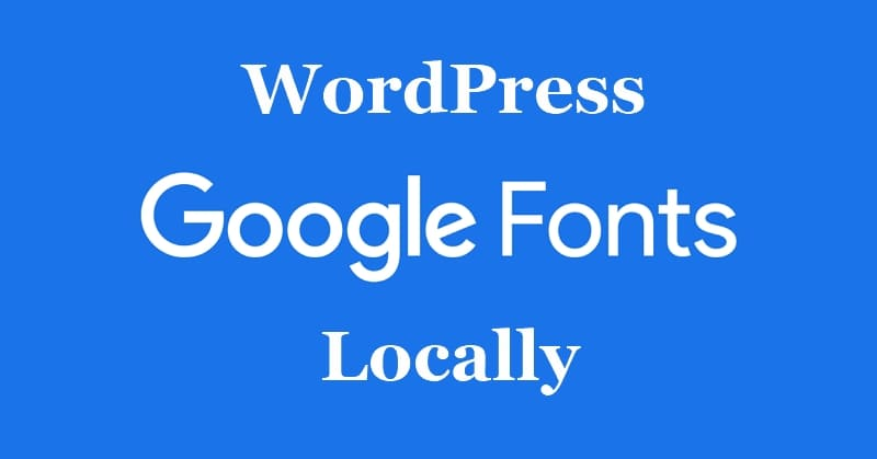 Размещение шрифтов Google локально в WordPress