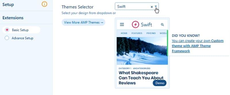 Макеты AMP для сайта WordPress
