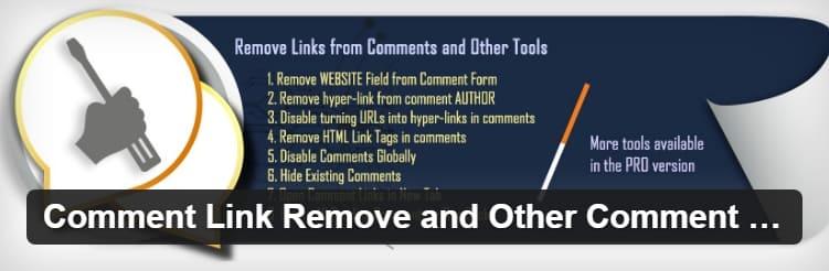 Удаление ссылки на комментарий и другие инструменты для комментариев