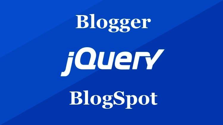 Подключение библиотеки jQuery к Blogger