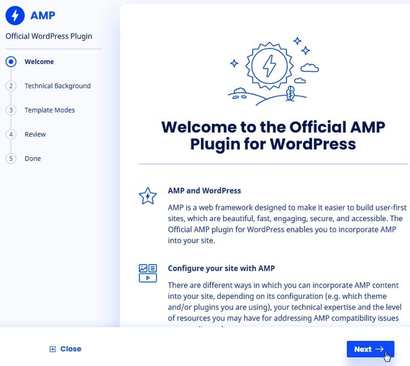 Настроить плагин и начать работу с AMP на вашем сайте