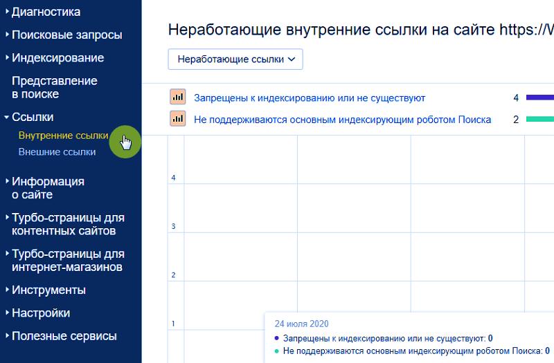 В Яндекс.Вебмастер битые ссылки в разделе Внутренние ссылки — Неработающие внутренние ссылки на сайте