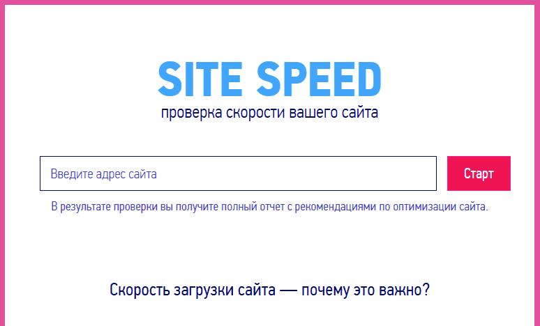 Site Speed - проверка скорости вашего сайта