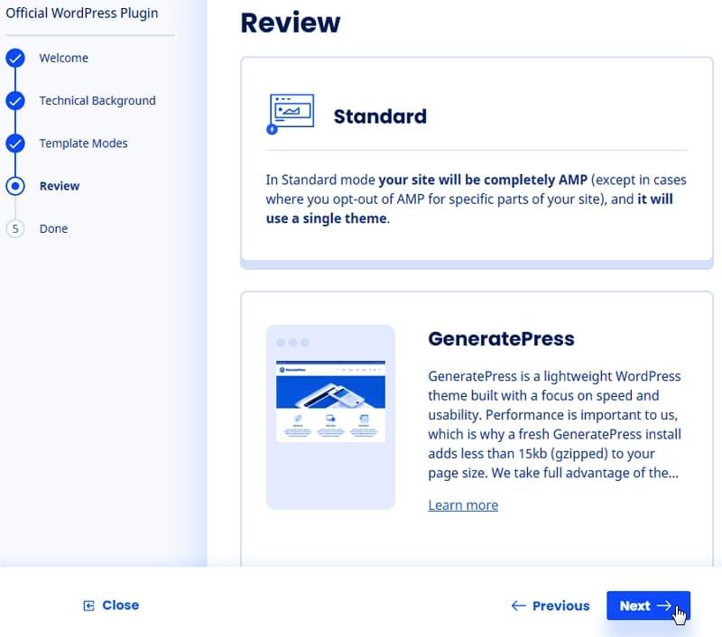 Настройка AMP WordPress в стандартном режиме