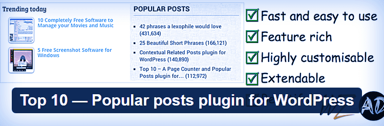 Top 10 - плагин популярных постов для WordPress