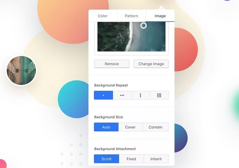 Blocksy дает вам возможность управлять настройками цвета и фона