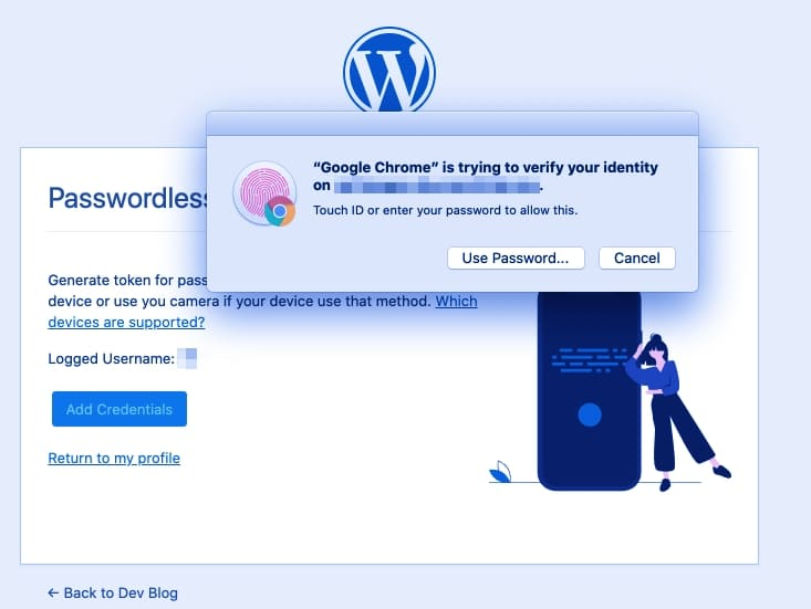 Настройка Вход без пароля для WordPress