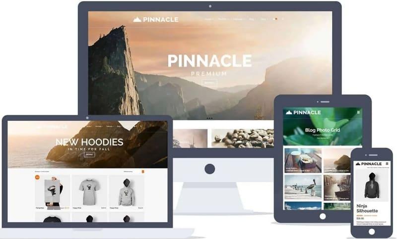 Pinnacle - смелая тема с универсальными возможностями и множеством стилей