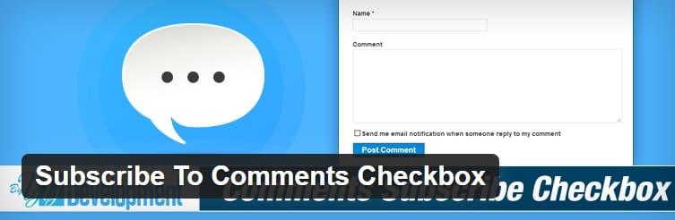 Флажок Подписка на комментарии WordPress