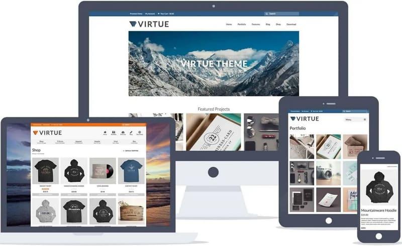 Бесплатная WordPress тема Virtue