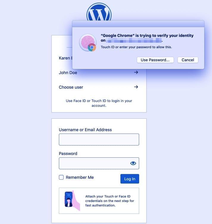 Как работает вход в WordPress без пароля
