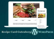 Блок Gutenberg — карта рецептов WordPress