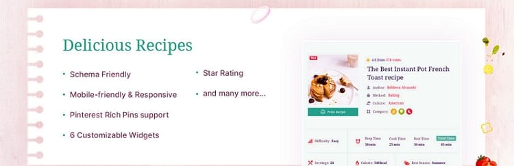 Delicious Recipes - плагин рецептов для WordPress