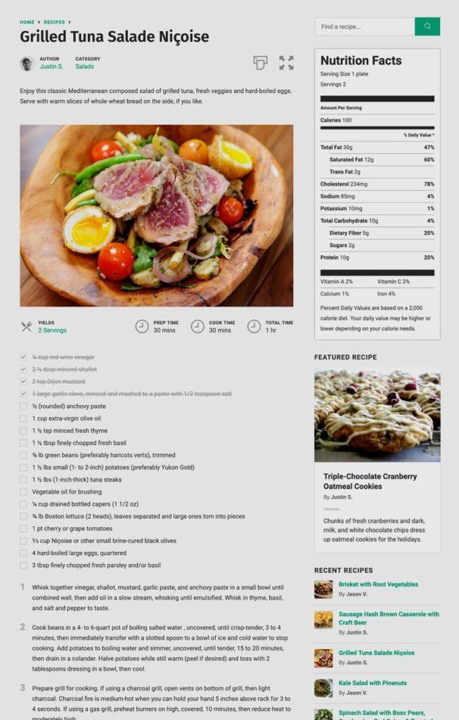 Лучший плагин рецептов, доступный для WordPress