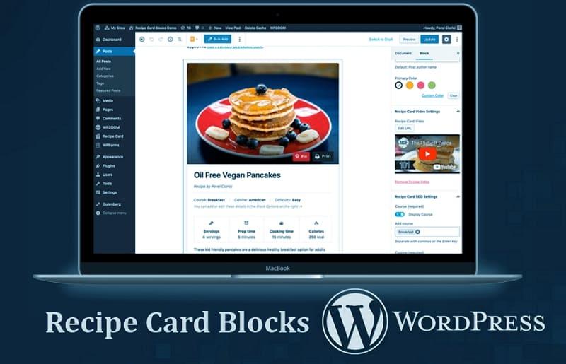 Recipe Card Blocks - бесплатный плагин для редактора Gutenberg WordPress