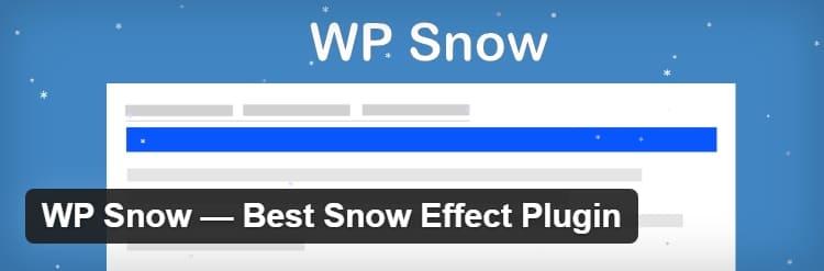 WP Snow - лучший плагин с эффектом снега для сайта