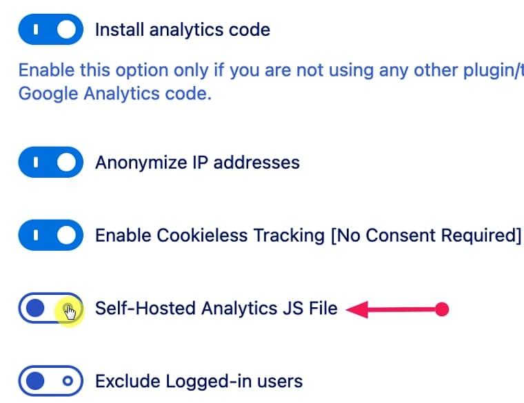 JS-файл самообслуживания Гугле аналитики